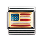 Nomination America Flag Charm