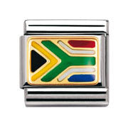 Nomination South African Flag Charm