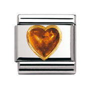 Nomination Amber Heart Charm