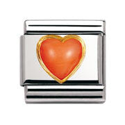 Nomination Pink Coral Heart Charm