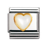 Nomination Mother Of Pearl Heart Charm
