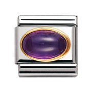 Nomination Amethyst Oval Charm