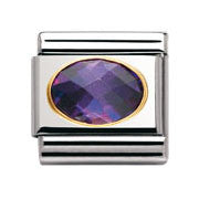 Nomination Purple Faceted Cubic Zirconia