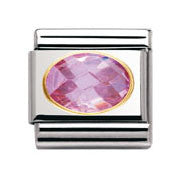 Nomination Pink Faceted Cubic Zirconia