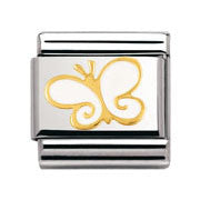 Nomination White Butterfly Charm