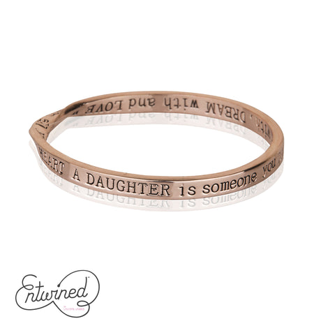Entwined A Daughter Is... Rose Gold Bangle
