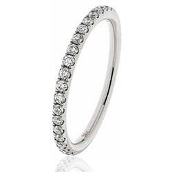 Platinum Brilliant Cut Diamond Set 1/2 Eternity/Wedding Ring .45ct