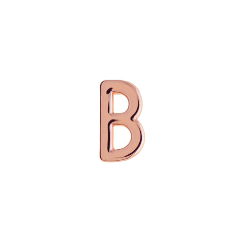 Buckle Up Rose Gold B Charm