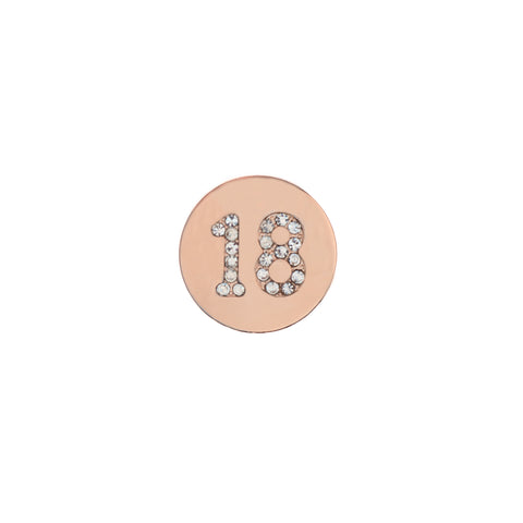 Buckle Up Rose Gold 18 Charm