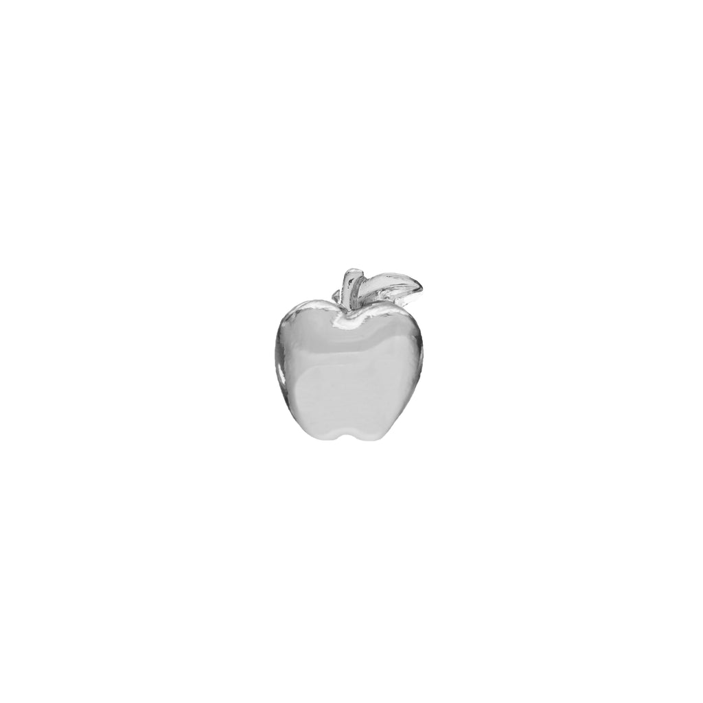 Buckle Up Silver Apple Charm