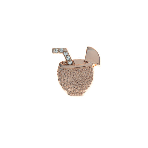 Buckle Up Rose Gold Cocktail Charm