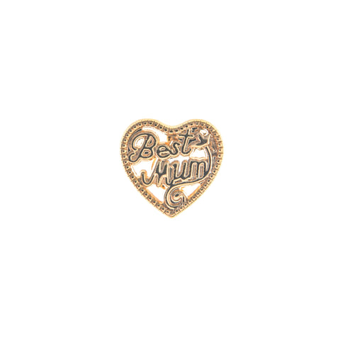 Buckle Up Gold Best Mum Charm