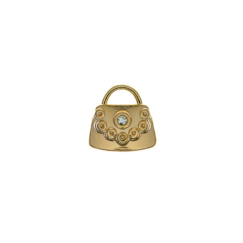 Buckle Up Gold Handbag Charm