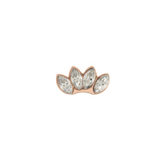 Buckle Up Rose Gold Lotus Flower Charm