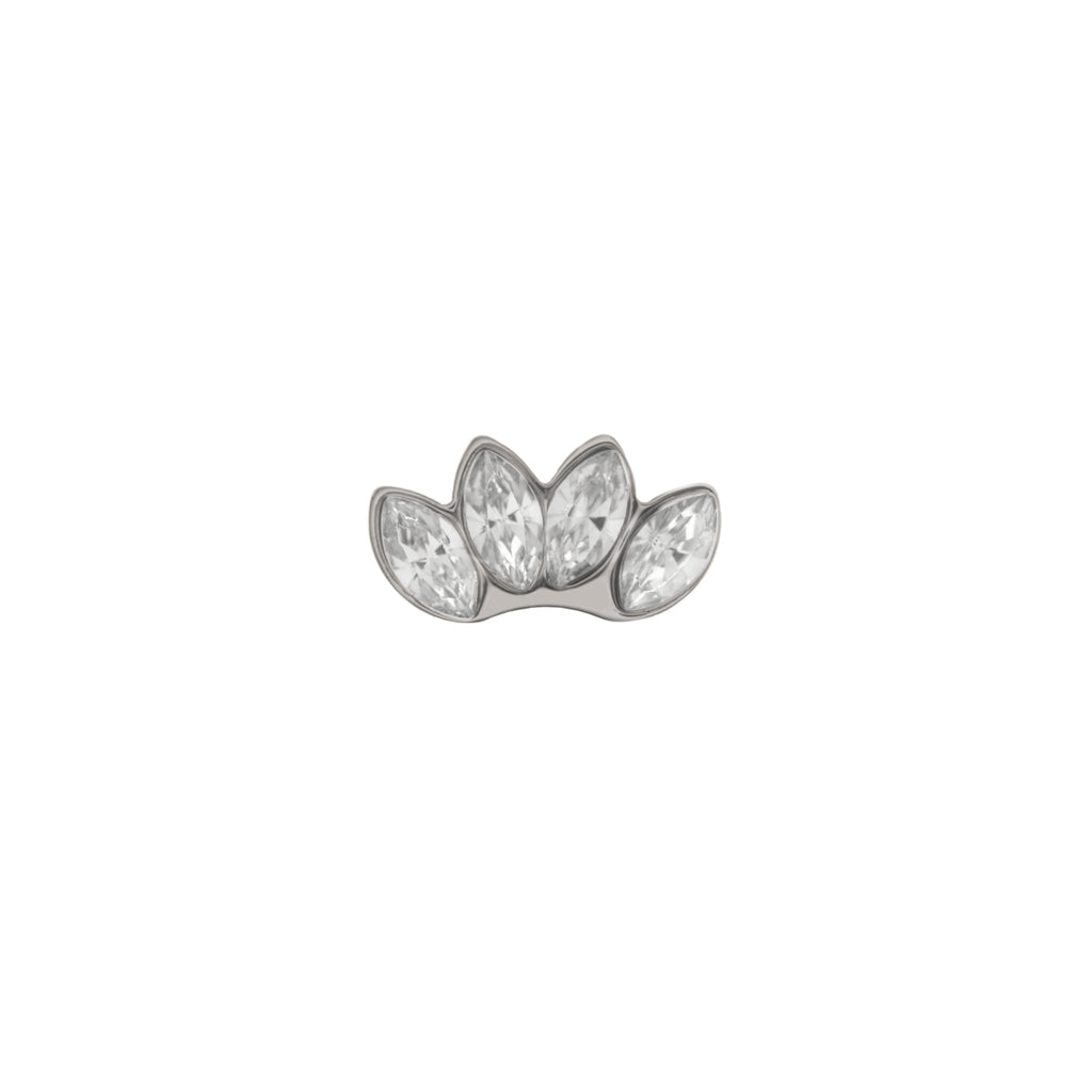 Buckle Up Silver Lotus Flower Charm