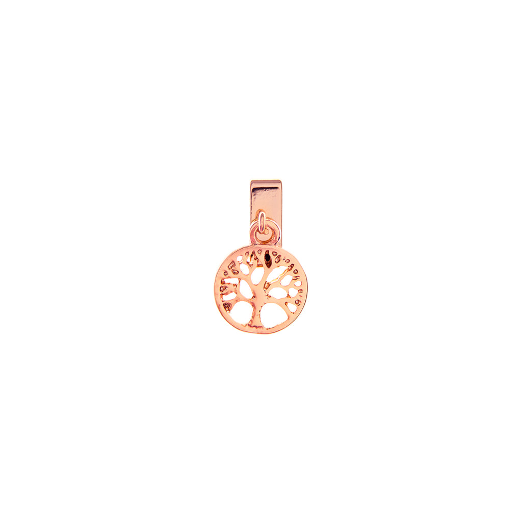 Buckle Up Rose Gold Dangle Tree Of Life Charm