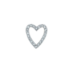 Buckle Up Silver Crystal Heart Charm