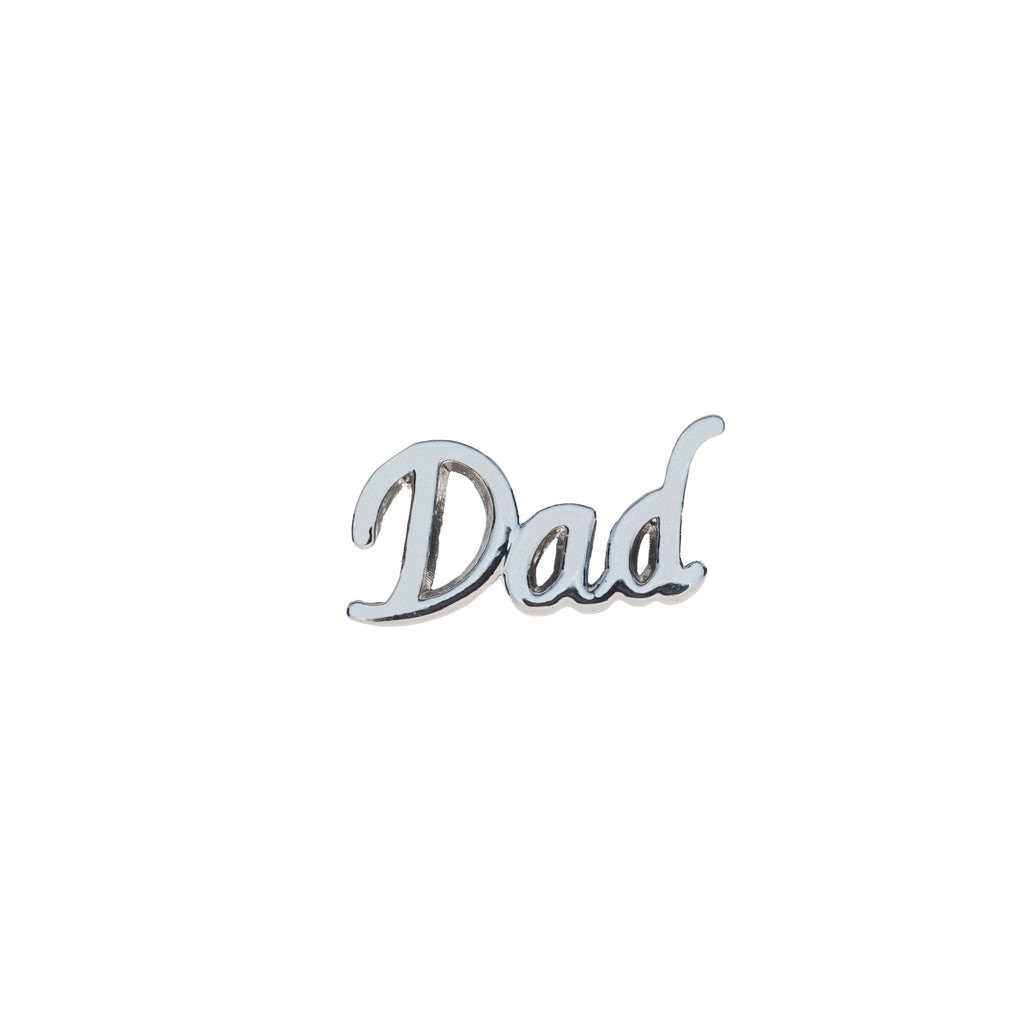 Buckle Up Silver Dad Charm