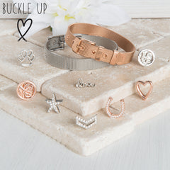 Buckle Up Silver Padlock Charm