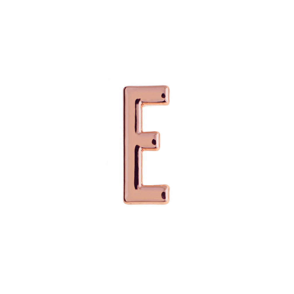 Buckle Up Rose Gold E Charm