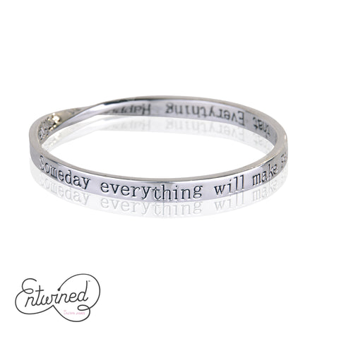 Entwined Everything Happens For... Silver Bangle