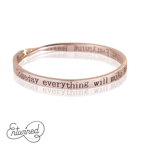 Entwined Everything Happens For... Rose Gold Bangle