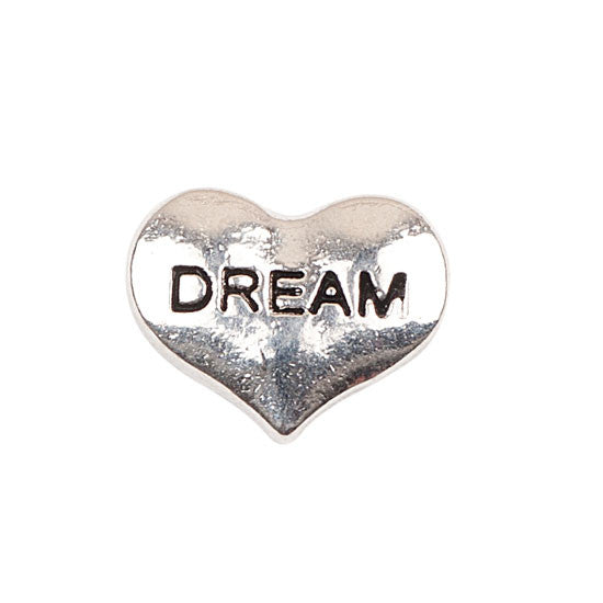 Silver Heart Dream Charm