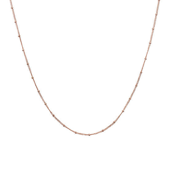 Rose Gold Ball Station Chain
