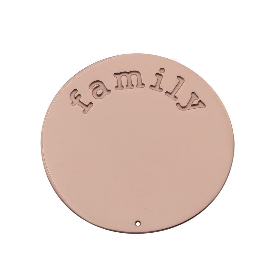 Family Halo (Plate) Rose Gold