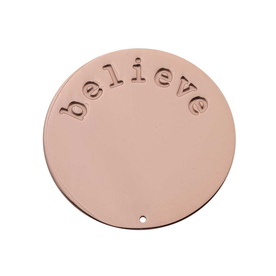 Believe Halo (Plate) Rose Gold