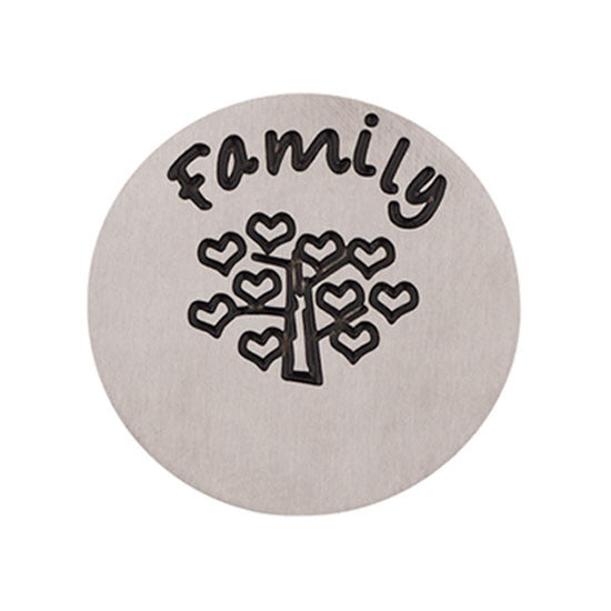 Family Tree (Plate) Halo Silver