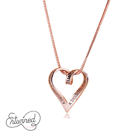 Entwined A Daughter Is... Necklace Rose Gold Plated