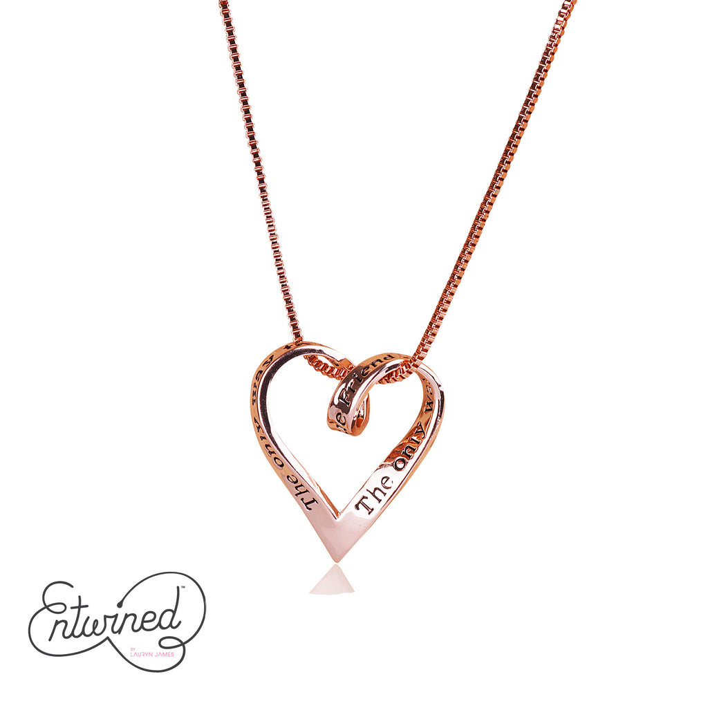 Entwined True Friend... Necklace Rose Gold