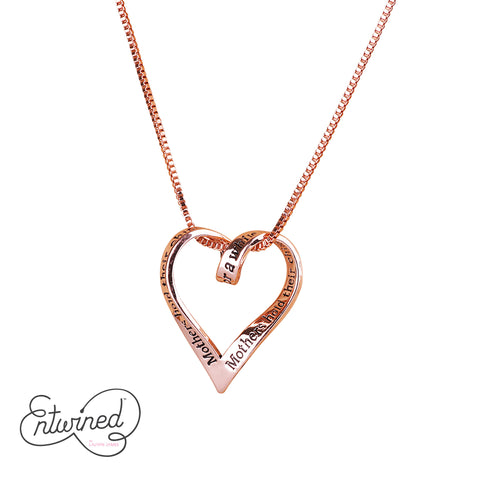 Entwined Mothers Children's... Necklace Rose Gold Plated