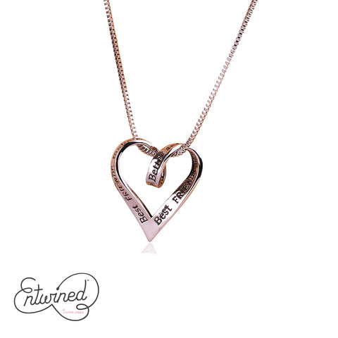 Entwined Best Friends... Necklace Silver Plated