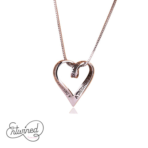 Entwined A Daughter Is... Necklace Silver Plated