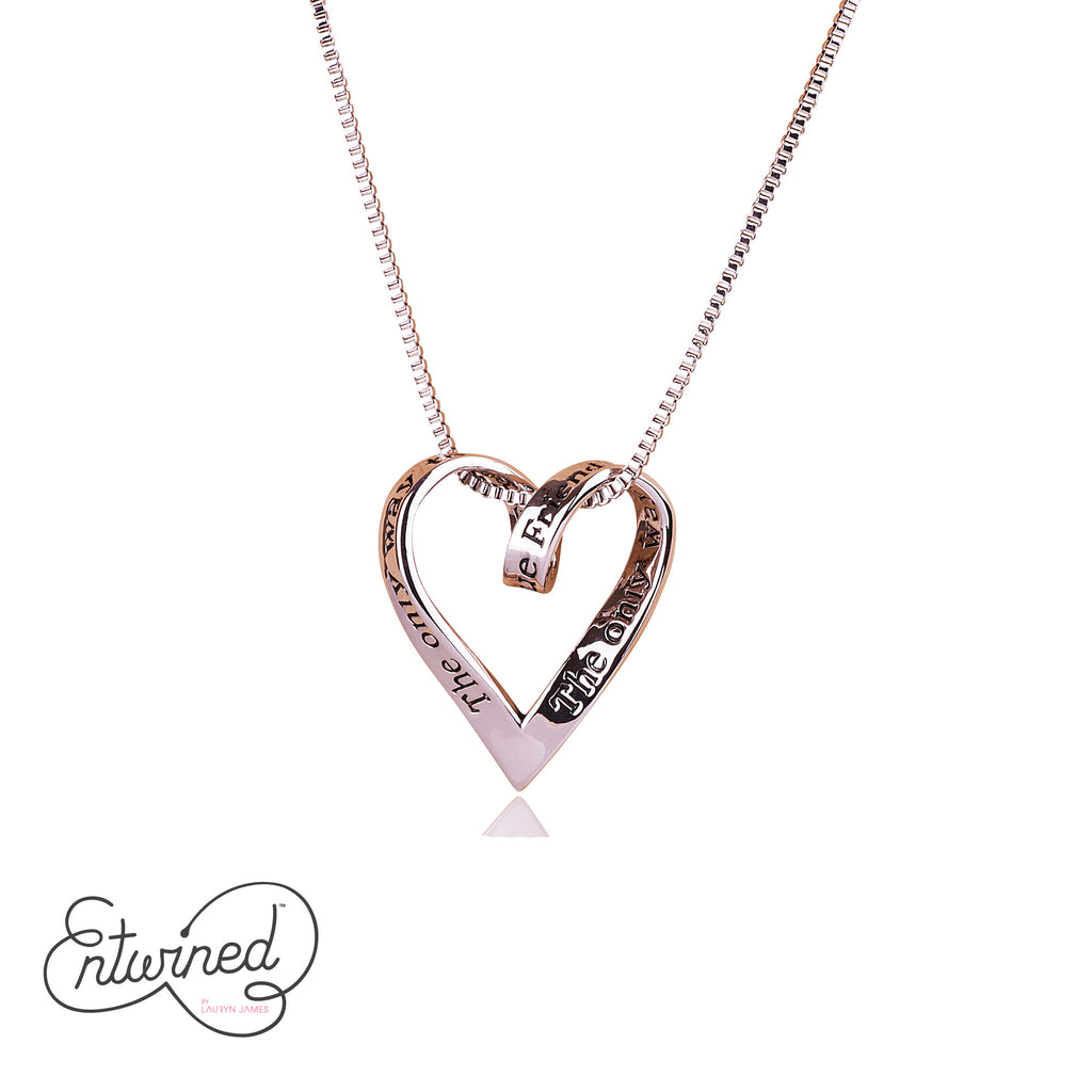 Entwined True Friend... Necklace Silver Plated