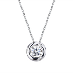 Pirouette Silver Karma Necklace P1628