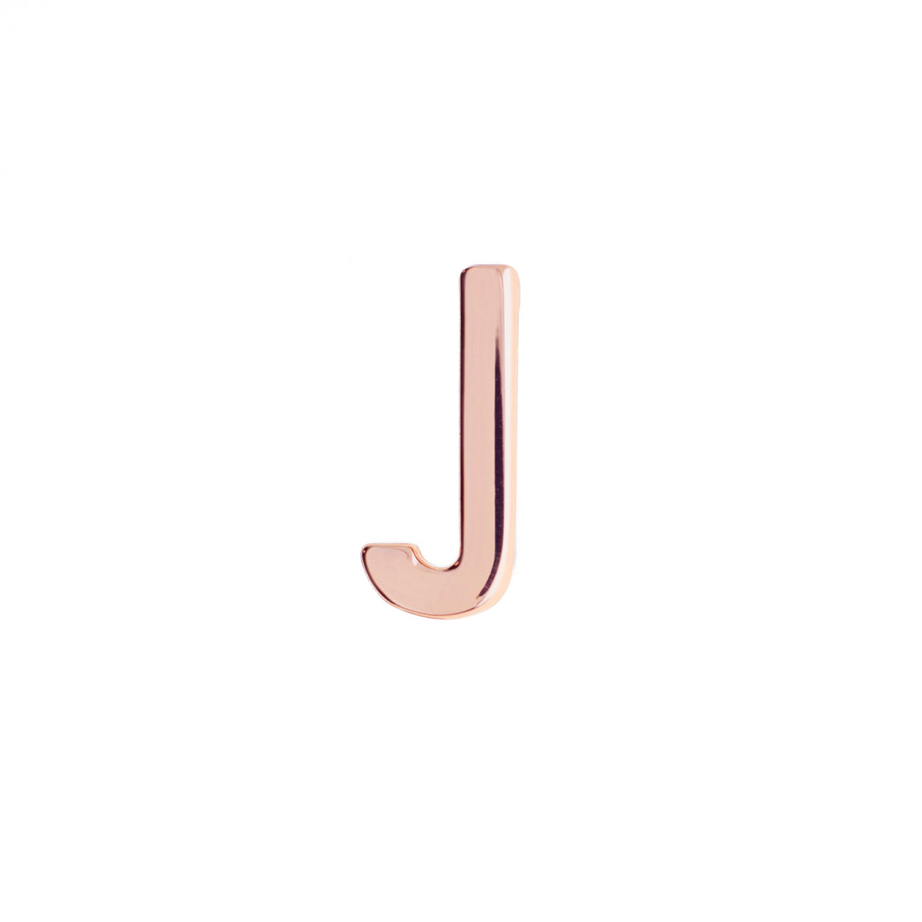 Buckle Up Rose Gold J Charm