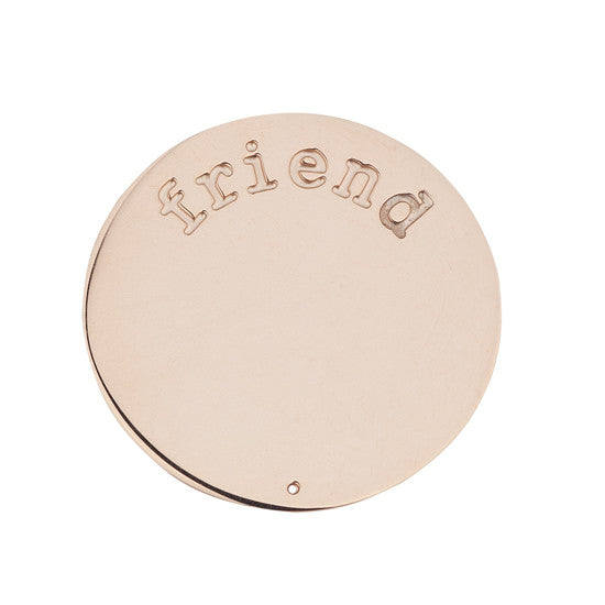 FRIEND HALO (PLATE) ROSE GOLD