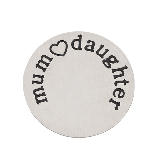 MUM DAUGHTER HALO (PLATE) SILVER