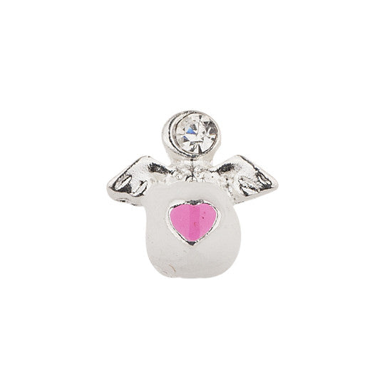 ANGEL CHARM WITH A PINK HEART