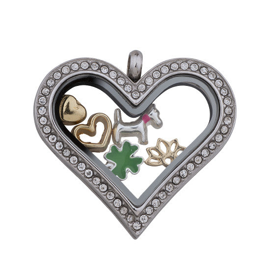 Silver Heart Love Charm Locket