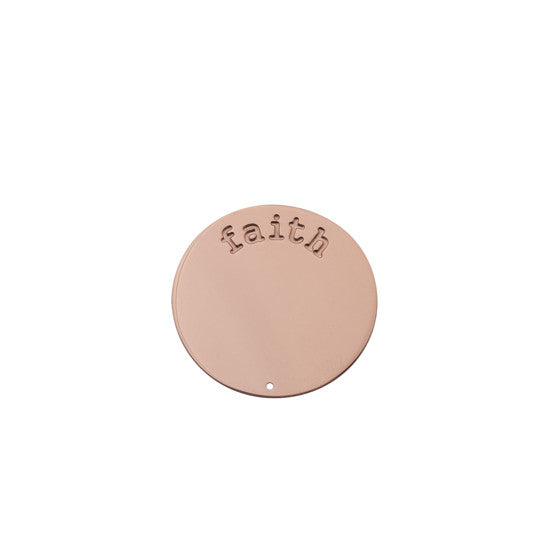 FAITH HALO (PLATE) ROSE GOLD SMALL