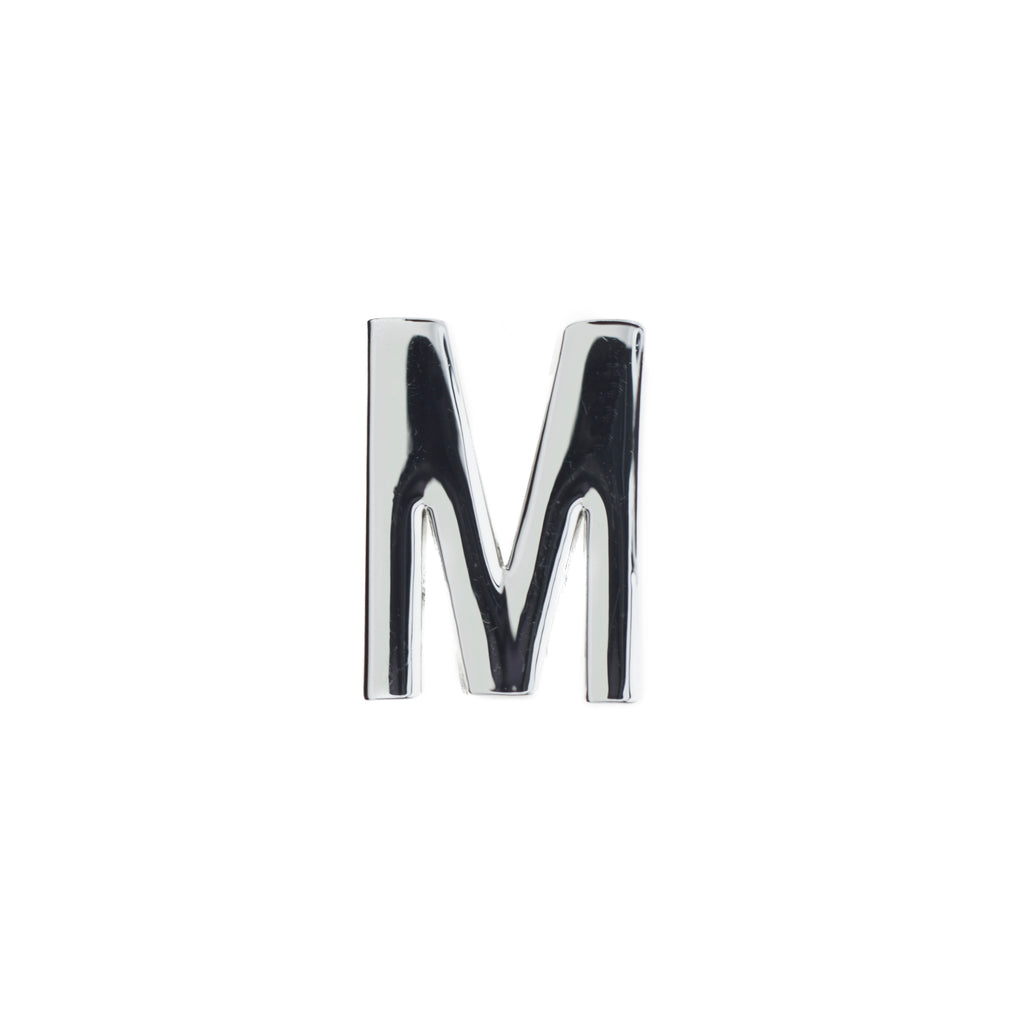 Buckle Up Silver M Charm