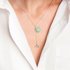 Secret Garden Humming Bird & Daisy Necklace