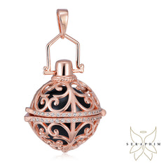 Seraphim Rose Gold Plated Holder With Zirconia & Black Sound Ball