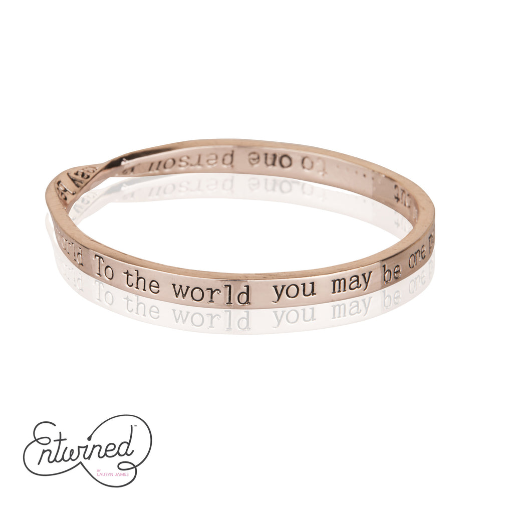 ENTWINED SPECIAL PERSON MESSAGE BANGLE