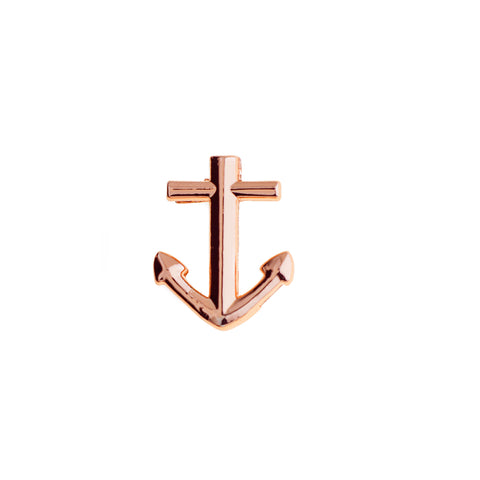 Buckle Up Rose Gold Anchor Charm