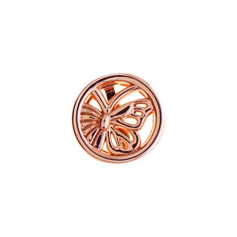 Buckle Up Rose Gold Butterfly Charm